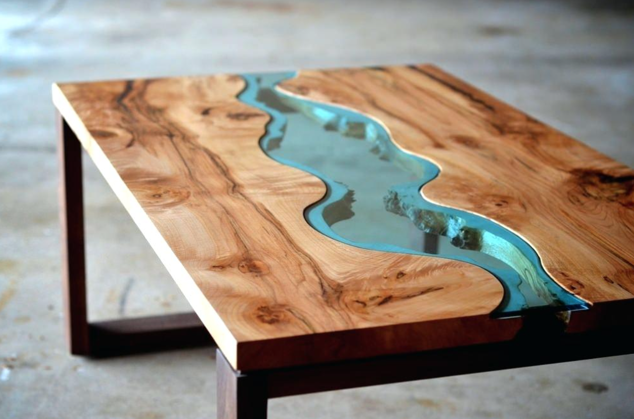 how to make a resin and wood coffee table step by step. Black Bedroom Furniture Sets. Home Design Ideas